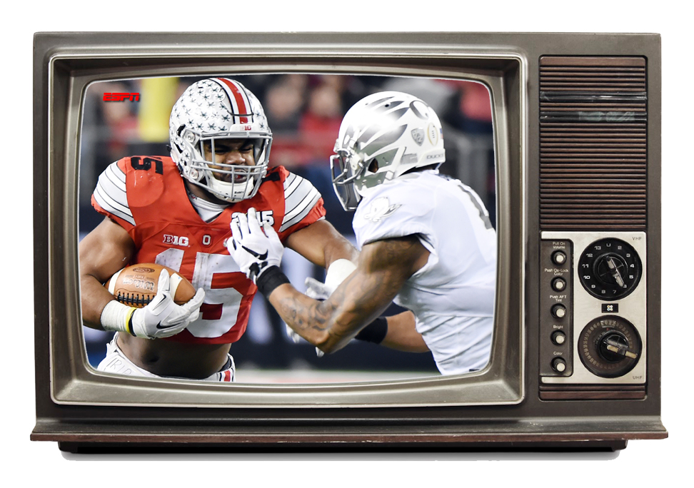 espn game of the week college football on television